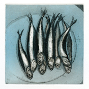 Anchovies, blue variation